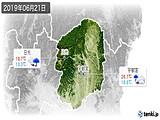 2019年06月21日の栃木県の実況天気