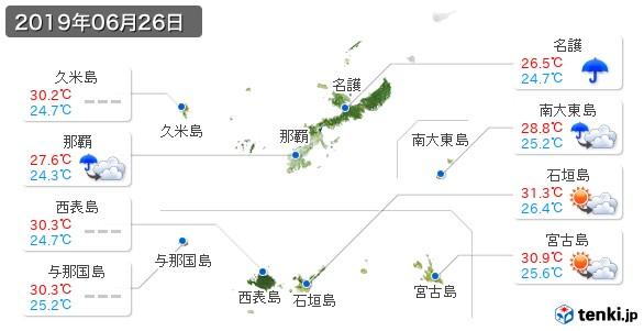 沖縄県(2019年06月26日の天気