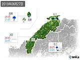 2019年06月27日の島根県の実況天気