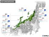 2019年06月29日の北陸地方の実況天気