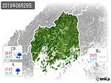 2019年06月29日の広島県の実況天気