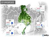 2019年06月30日の兵庫県の実況天気