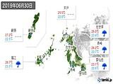 2019年06月30日の長崎県の実況天気