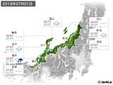 2019年07月01日の北陸地方の実況天気