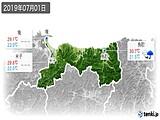 2019年07月01日の鳥取県の実況天気