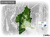 2019年07月03日の群馬県の実況天気