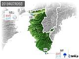 2019年07月05日の和歌山県の実況天気