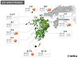 2019年07月06日の九州地方の実況天気
