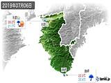 2019年07月06日の和歌山県の実況天気