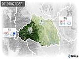 2019年07月08日の埼玉県の実況天気