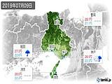 2019年07月09日の兵庫県の実況天気