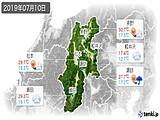 2019年07月10日の長野県の実況天気
