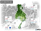 2019年07月10日の兵庫県の実況天気