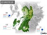 2019年07月10日の熊本県の実況天気