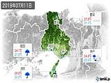 2019年07月11日の兵庫県の実況天気