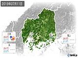 2019年07月11日の広島県の実況天気