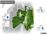 2019年07月12日の福島県の実況天気