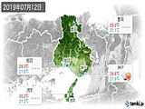 2019年07月12日の兵庫県の実況天気