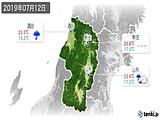 2019年07月12日の山形県の実況天気