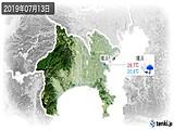 2019年07月13日の神奈川県の実況天気
