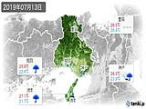 2019年07月13日の兵庫県の実況天気