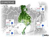 2019年07月14日の兵庫県の実況天気