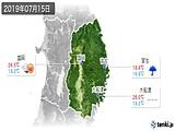 2019年07月15日の岩手県の実況天気