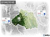 2019年07月16日の埼玉県の実況天気