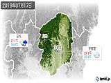 2019年07月17日の栃木県の実況天気