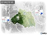 2019年07月18日の埼玉県の実況天気