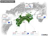 2019年07月20日の四国地方の実況天気