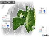 2019年07月21日の福島県の実況天気