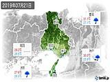 2019年07月21日の兵庫県の実況天気