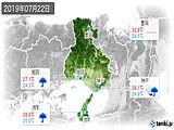2019年07月22日の兵庫県の実況天気