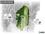 2019年07月23日の栃木県の実況天気