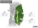 2019年07月29日の岩手県の実況天気
