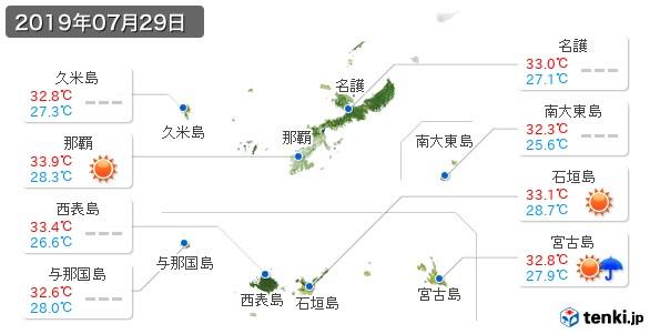 沖縄県(2019年07月29日の天気