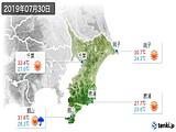 2019年07月30日の千葉県の実況天気