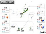 2019年07月30日の沖縄県の実況天気