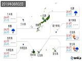 2019年08月02日の沖縄県の実況天気