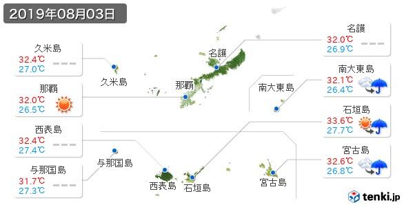 沖縄県(2019年08月03日の天気