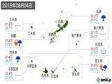 2019年08月04日の沖縄県の実況天気
