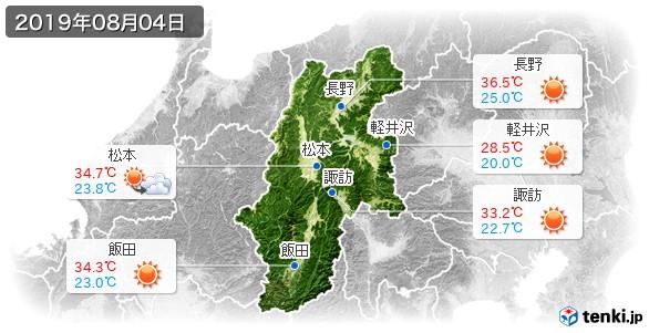 長野県(2019年08月04日の天気