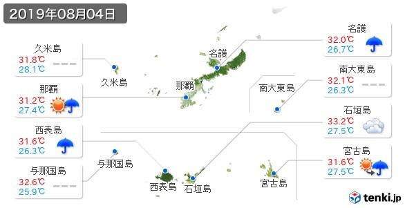 沖縄県(2019年08月04日の天気