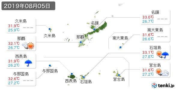 沖縄県(2019年08月05日の天気