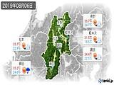 2019年08月06日の長野県の実況天気