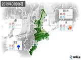 2019年08月06日の三重県の実況天気