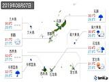 2019年08月07日の沖縄県の実況天気