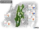 2019年08月08日の長野県の実況天気