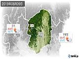 2019年08月09日の栃木県の実況天気